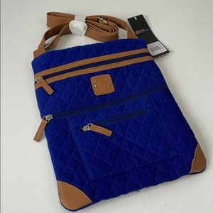 Stone Mountain quilted fabric crossbody bag